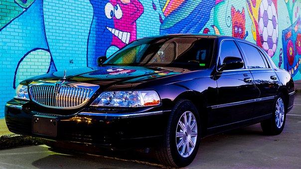 Lincoln, Town Car, Street Art, Car, Transport, Urban