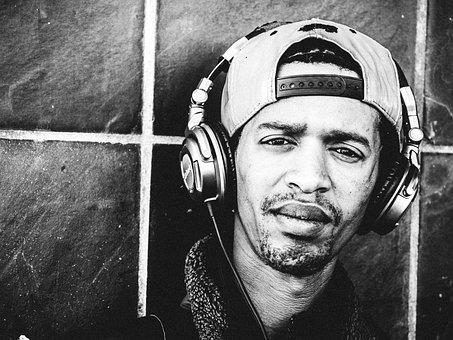 Rapper, Rap, Headphones, Street, Music, City, People