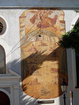 Sun Dial, Sun-dial, Sundial, Solar Clock, Saint Jakob
