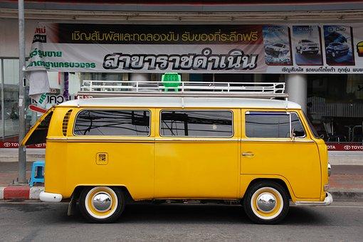 Vw, Bulli, T1, T2, Yellow, Volkswagen, Vw Bulli, Auto