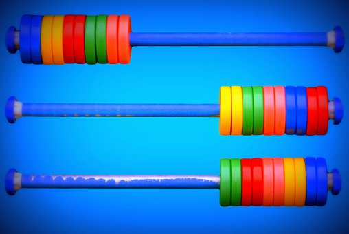 Abacus, Colors, Toys, Blue, Count