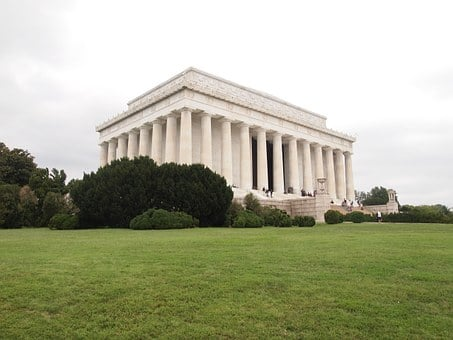 Washington, Lincoln, Memorial, Usa, Architecture