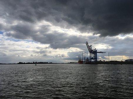 Brake Unterweser, Weser, Port, Cranes