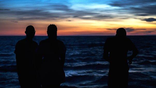Silhouette, Africa, Kenya, Nature, Sunset, Landscape