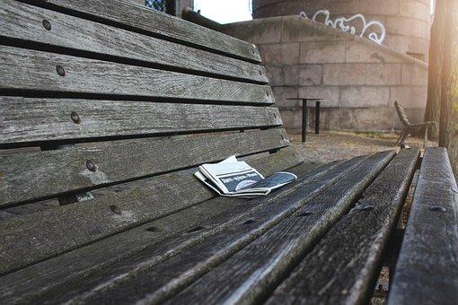 Bank, Sunshine, Trueb, Autumn, Newspaper, Read, Rest
