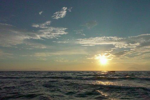 Beach, Sun, Summer, Ocean, Water, Vacations, Sunset