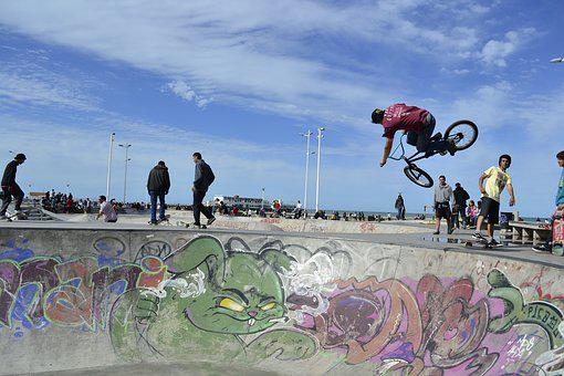 Bmx, Bicycle, Open Air, Skatepark, Cycling, Jump, Trick