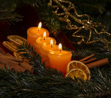 Christmas, Candles, Advent, Candlelight, Light, Flame