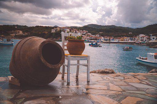 Pots, Chair, Ocean, Decoration, Modern, Decorative
