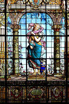 Stained Glass Window, Historical, Window, Church