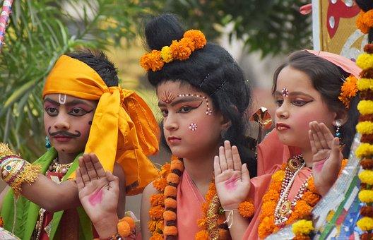 Kids, Costume, Ramleela, Ramayana, Ram, Sita, Kevat