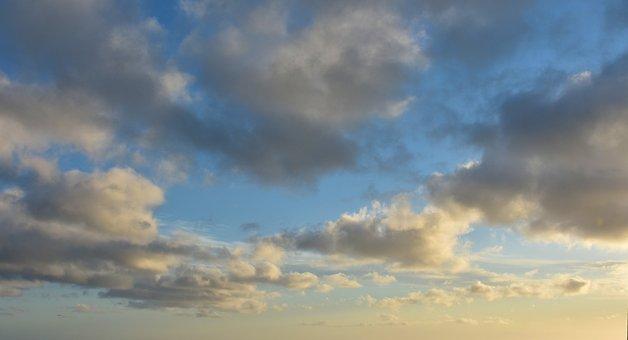 Clouds, Evening, Sky, Blue, Orange, Dusk, Mood, Nature