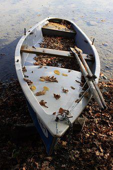 Boat, Paddle Boat, Paddle, Leaves, Fall Foliage, Water