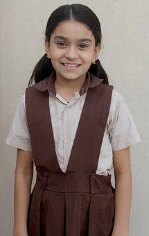 School, Indian School, School Dress, Cute Girl, Girl