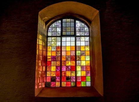 Church Window, Colorful, Church, Glass