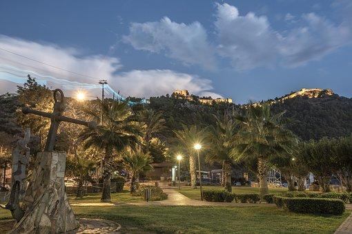 Alanya, Castle, Turkey, Antalya, Sunset, Iskele, Sky