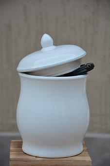 Pot, Earthenware, White, Vessel, Jar