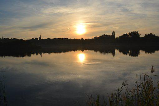 Sunset, Water, Nature, Sky, Landscape, Blue