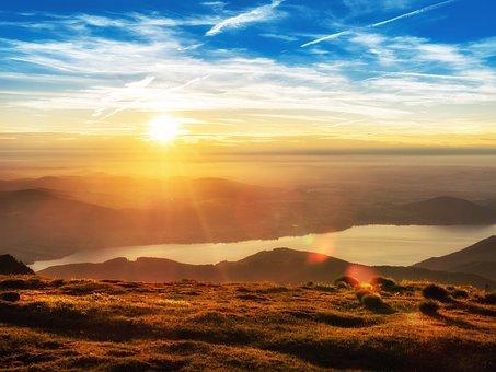 Lake, Salzkammergut, Sunset, Sky, Color, Landscape