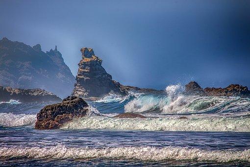 Atlantic, Nature, Landscape, Sea, Wave, Breakwater