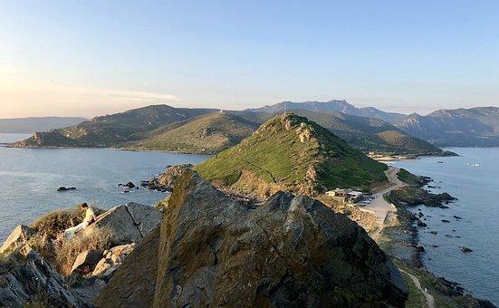 Corsica, Sunset, Sea, Mediterranean