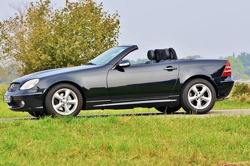 Mercedes, Slk, Auto, Benz, Vehicle, Convertible