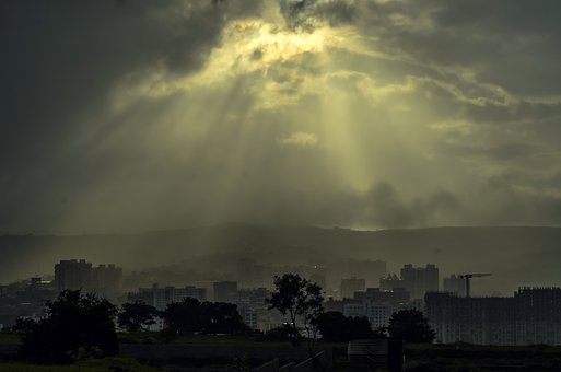 Shine, Sun And Cloud, Nature, Cityscape, Sun Rays