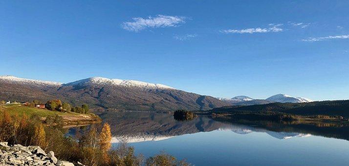 Landscape, Mountains, Nature, Panorama, Lake, Sky