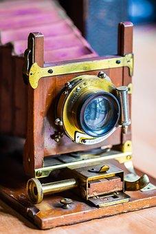 Camera, Old, Lens, Nostalgia, Vintage, Photograph