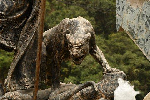 Peru, Sculpture, Big Cat, Wild Animals, Symbol