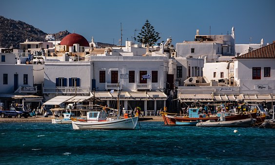 Port, Houses, Sea, Wind, Boat, Fisherman, City, Greece