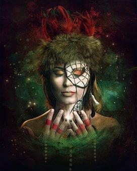 Gothic, Goth, Fantasy, Dark, Portrait, Fantasy Portrait
