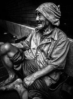 Homeless, Beggar, Poverty, Man, Portrait, Sad, Life