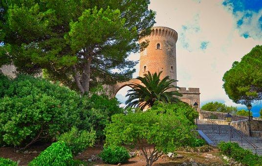 Castle, Spain, Architecture, Building, Mallorca, Urban