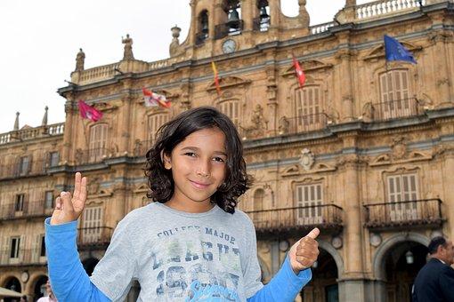 Child, Wellness, Spain, Salamanca, Tourism, I Like It