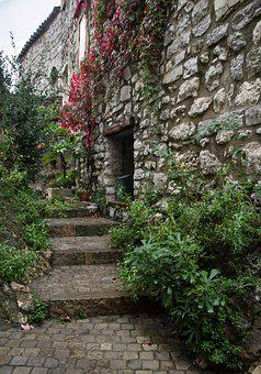 Herald, Village, Medieval, Staircase, Lane