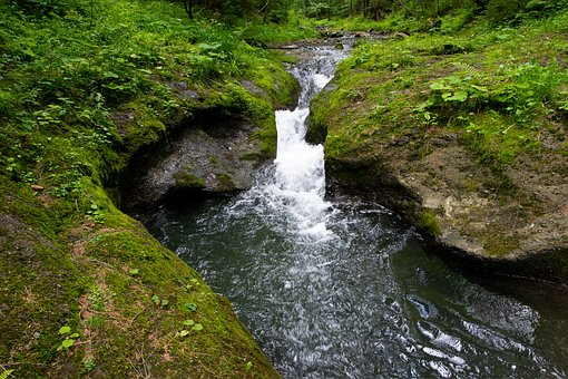 Stream, Beskydy, Czech Republic, Waterfall, Silesian