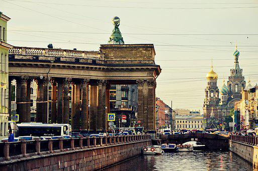 St Petersburg Russia, Peter, Russia, Showplace, Street
