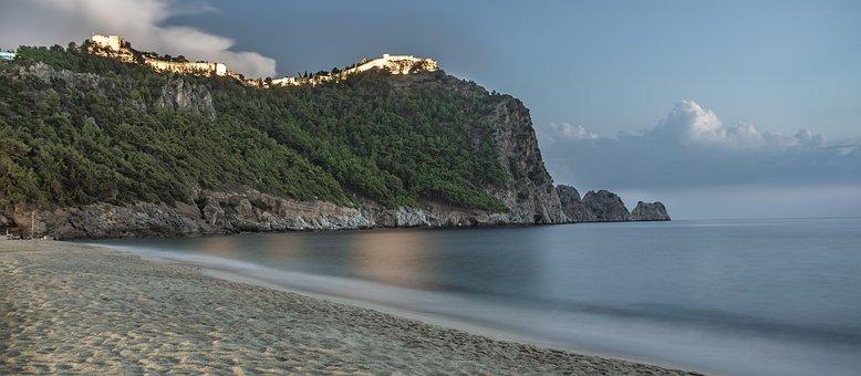 Alanya, Castle, Beach, Antalya, Marine, Turkey, Sunset