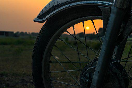 Bike, Sunset, Lifestyle, Cycling, Outdoors, Travel