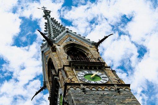 Tower, Church, Switzerland, Architecture