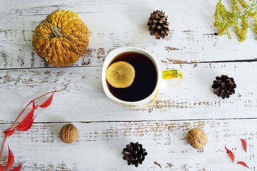 Autumn, Tea, Foliage, The Background, Mood, Clear