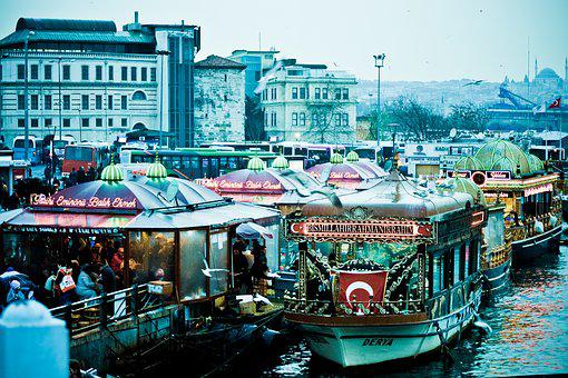 Market, Bosphorus, Tourism, Istanbul, Turkey, East