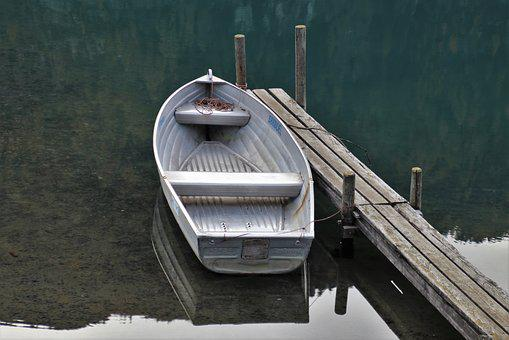 Boat, Autumn, Water, Davos, Lake, Scenery, The Silence
