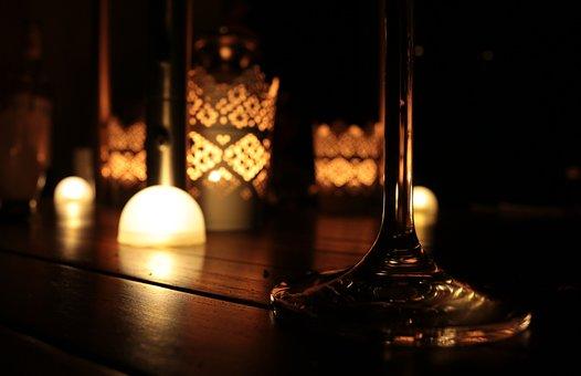 Summer Evening, Abendstimmung, Evening, Lights, Wine