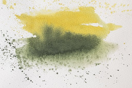 Color Spot, Watercolour, Yellow, Green, Background