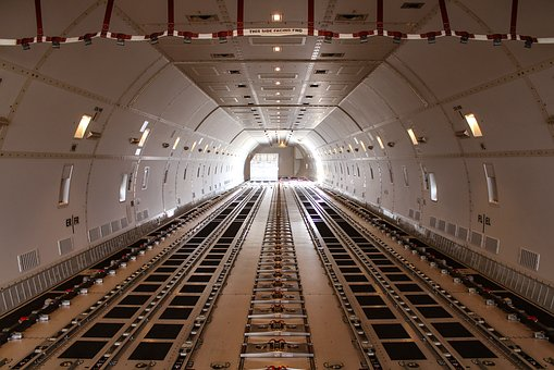 Boeing, 747, Cargo Deck, Sky, Jet, Airport, Transport