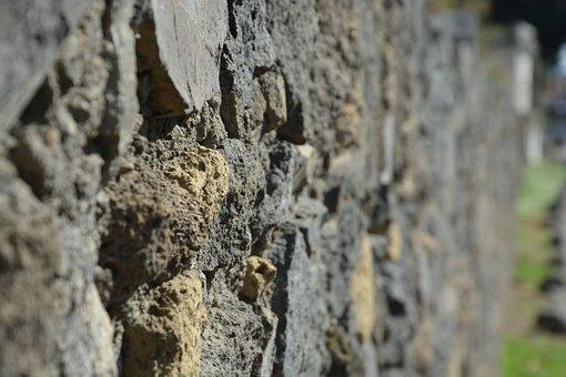 Wall, Sharp, Stones, Old, Pompeii, Antique