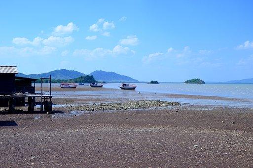 Thailand, Beach, Sea, Boats, Landscape, Summer, Blue
