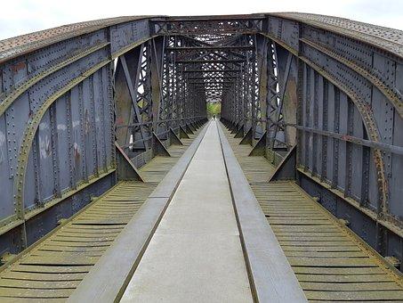 Bridge, Railway, Steel, Away